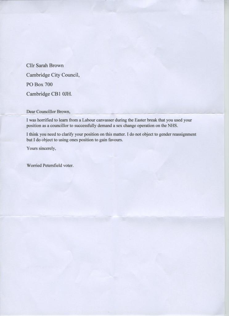 SRS Election Letter
