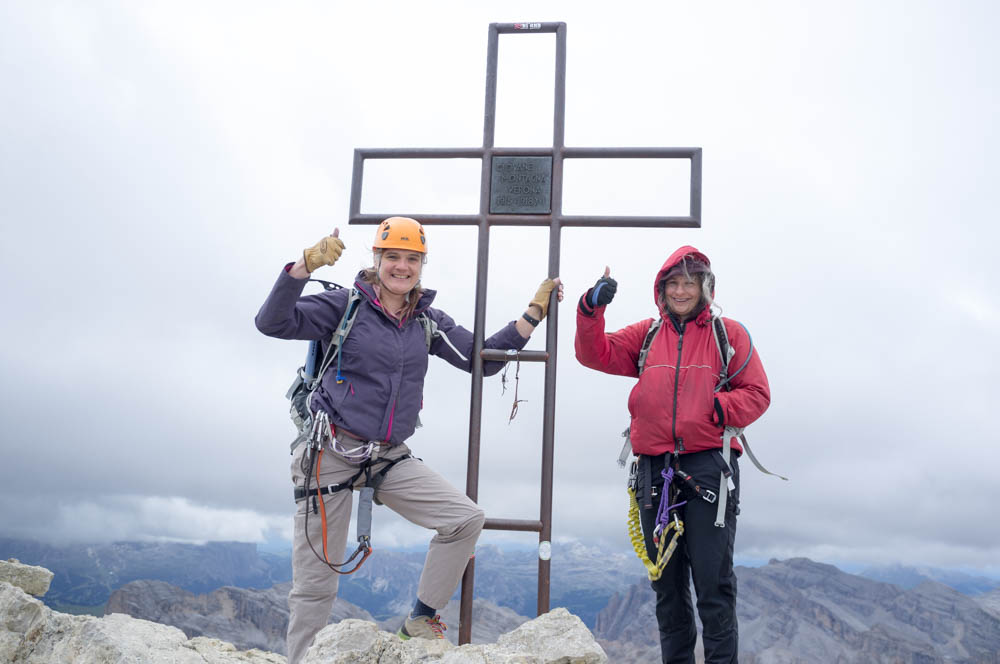 We made it! The summit cross is dedicated to those who last their lives in the 1st world war.