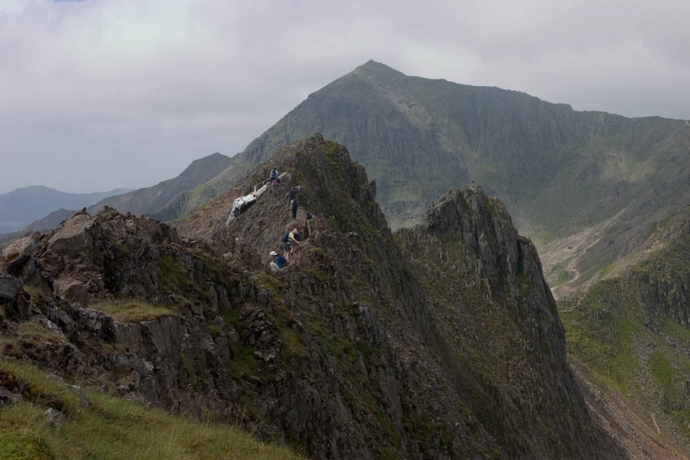 Photo of Crib Goch from the first time Sylvia and I went there in 2005.